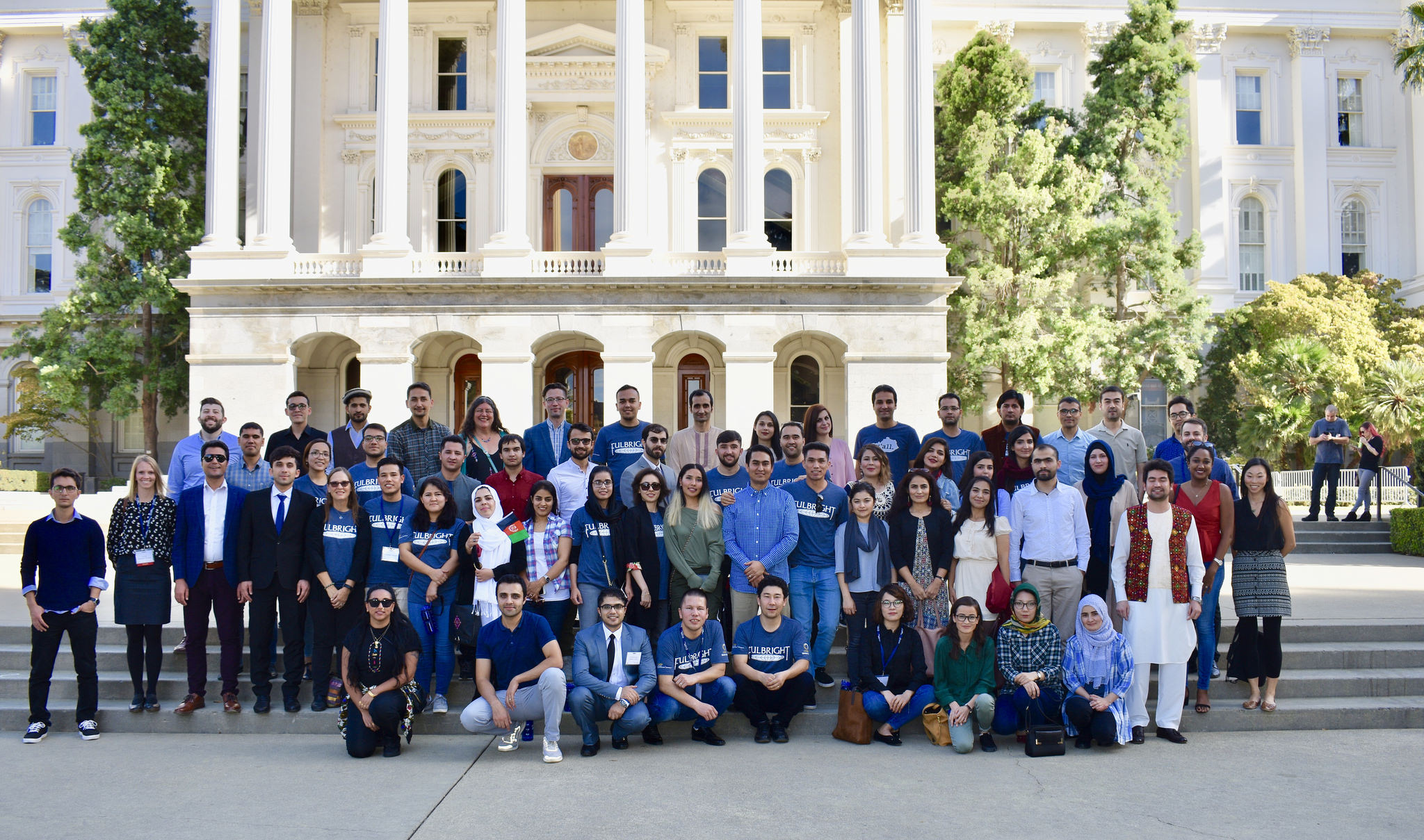 students pose in Sacramento