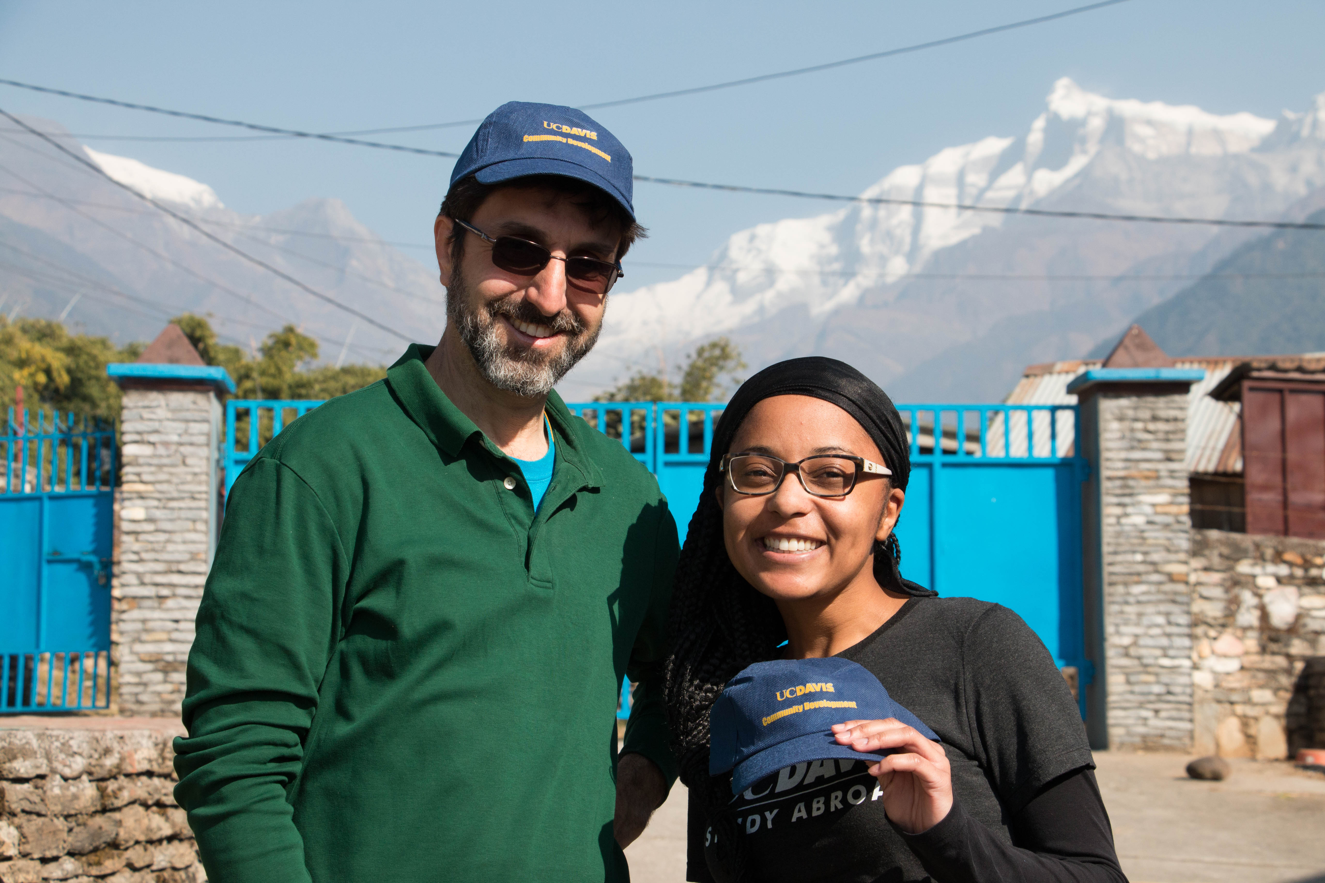Students with faculty in Nepal
