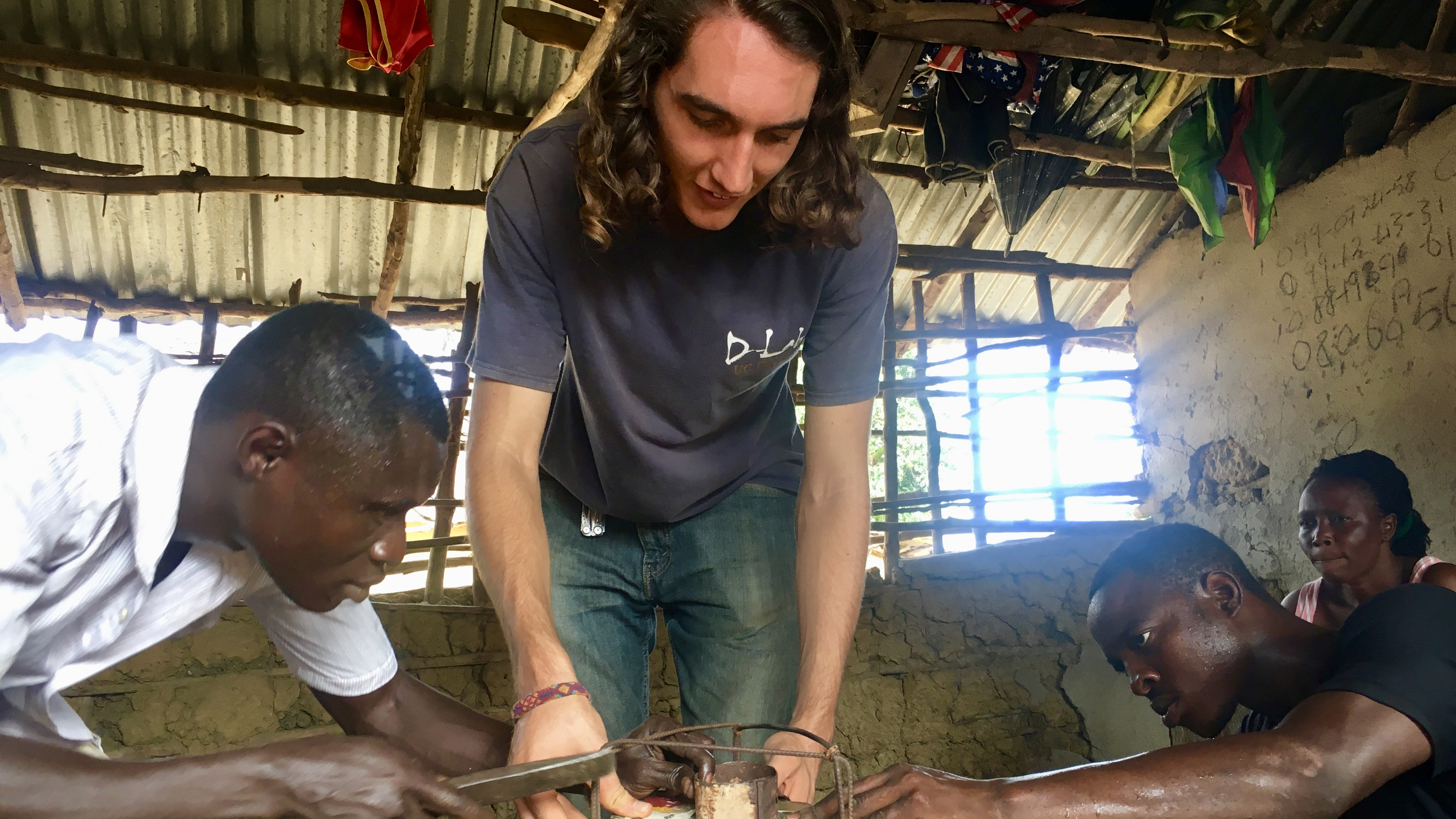 Student working on project in Sierra Leone