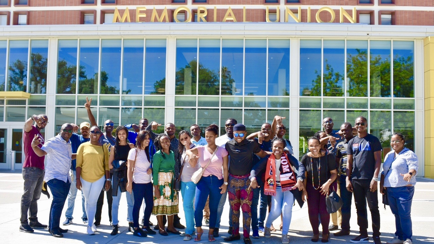 UC Davis Mandela Fellows at Memorial Union