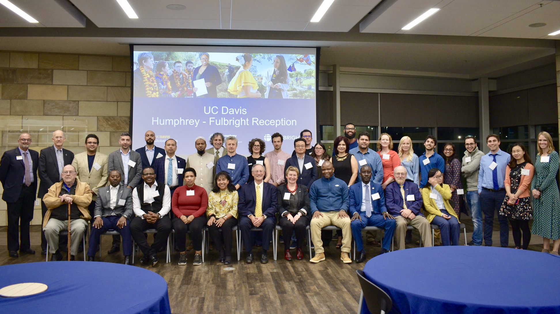2019 Humphrey - Fulbright Reception group photo