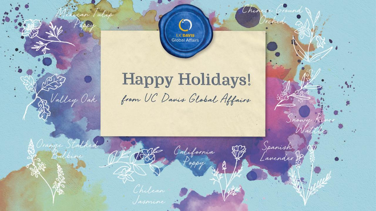 Happy Holidays and Annual Report from UC Davis Global Affairs