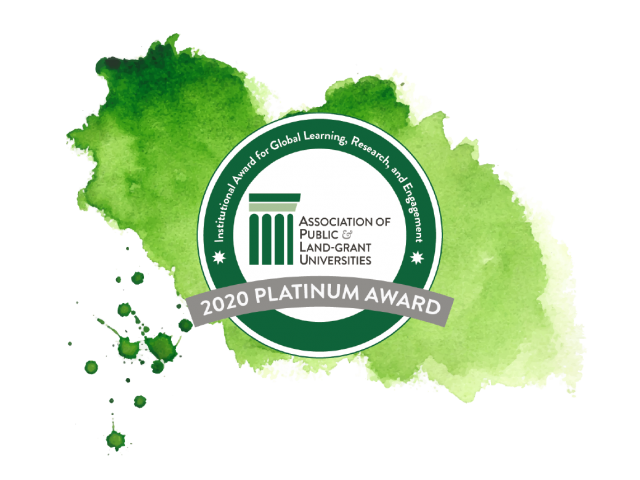 APLU Award seal with watercolor background