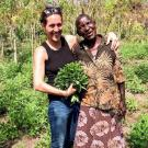 Grant recipient Carrie Waterman, an assistant researcher of nutrition at UC Davis, and Margaret Akuma, a moringa farmer from Northern Uganda