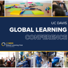 Global Learning Conference graphic with conference images