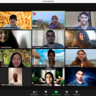 Screenshot of Global Education for All Fellows alongside students from other universities during a Zoom meeting for the project