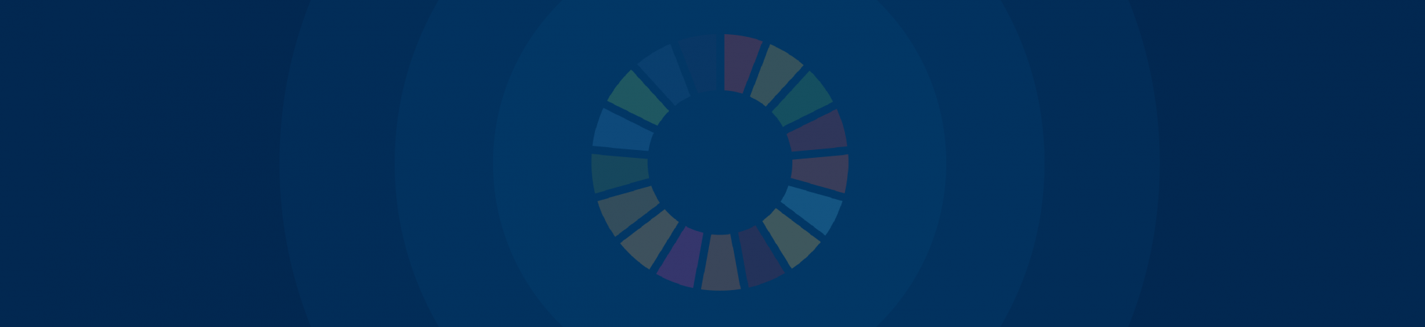 Blue banner with SDG wheel