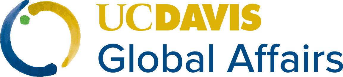 UC Davis Global Affairs with icon