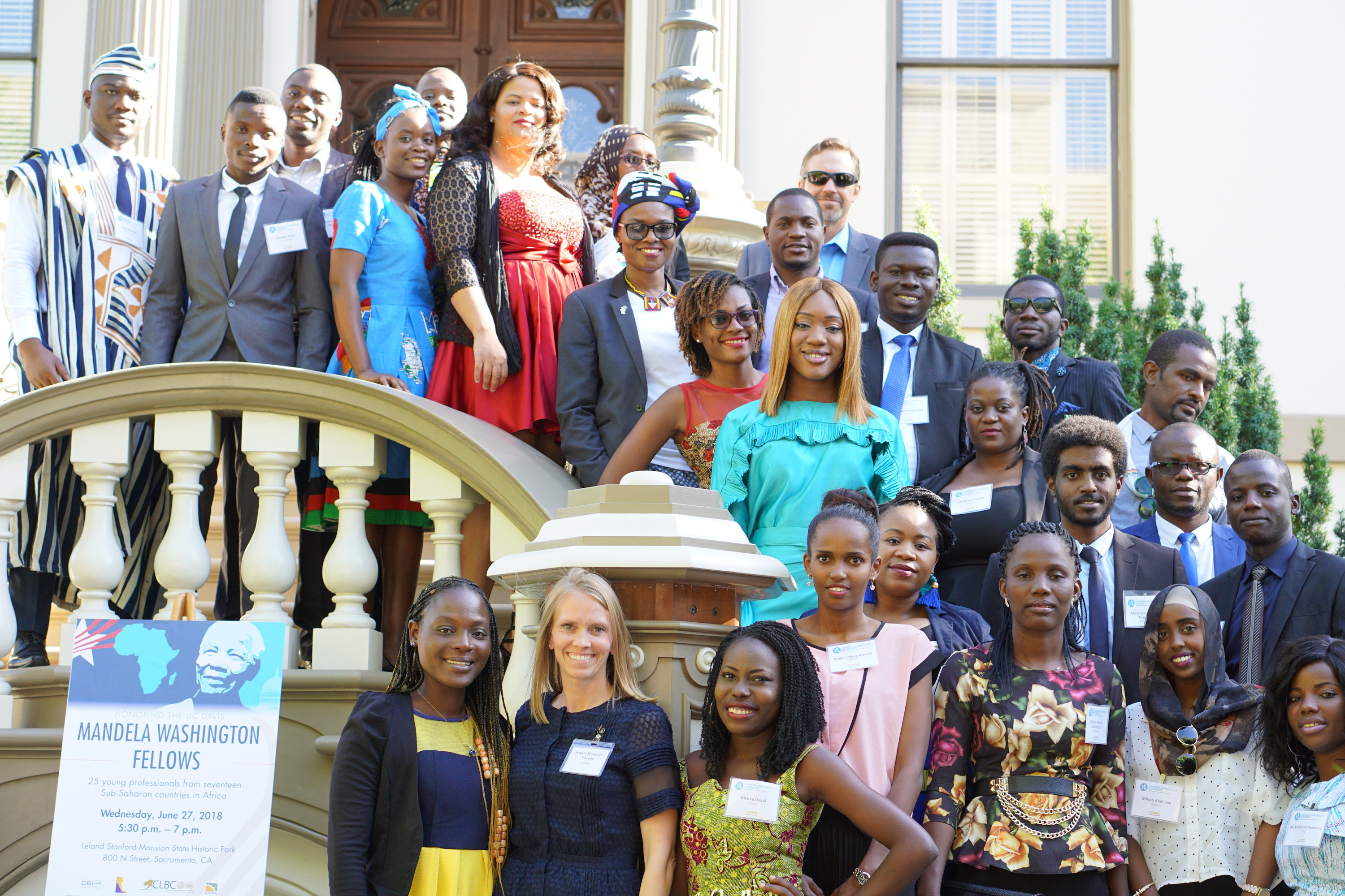 2018 Mandela Fellows at State Historic Park