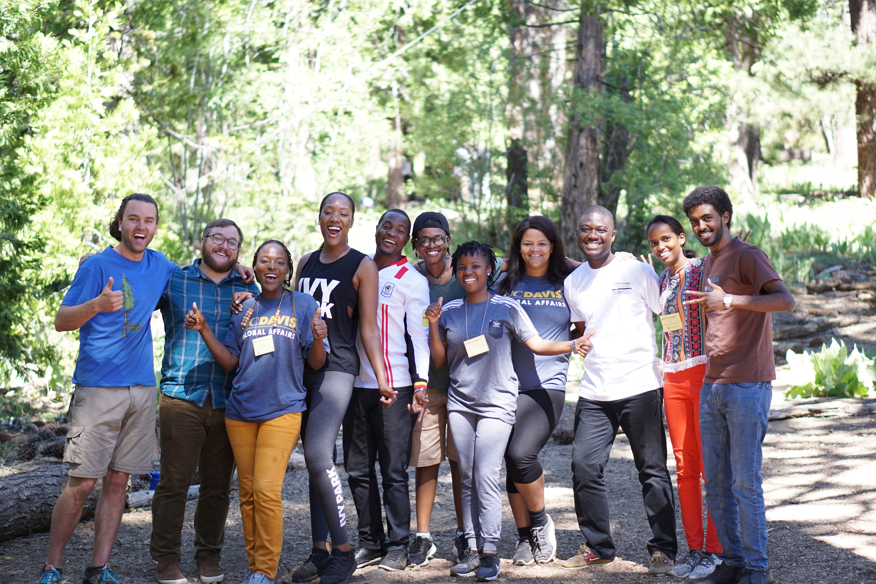 2018 Mandela Fellows at Lake Tahoe for team building