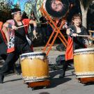 "Bakuhatsu Taiko Dan performs ""Seishun"" at the 2018 Davis Cherry Blossom Festival"