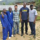 UC Davis Ph.D. student Nicholas Bowden (third from right) and 2017-18 UC Davis Mandela Washington Fellow Janvier Kabananiye (second from left) in Rwanda.