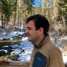 Fulbright Scholar Pedro Luis Borges Chaffe at one of the Lake Tahoe creeks.