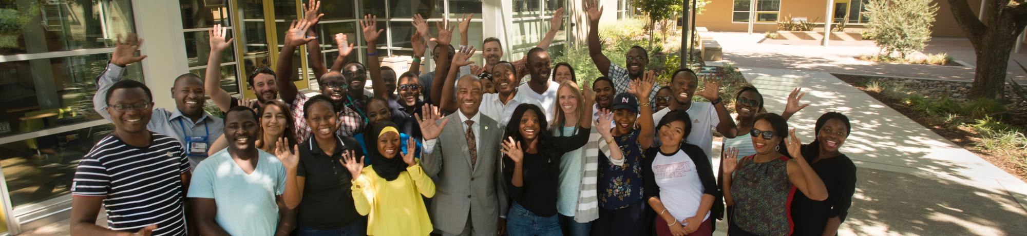Mandela Fellows with Chancellor May