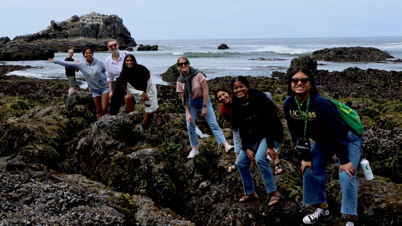 Group trip to the Oregon coast.