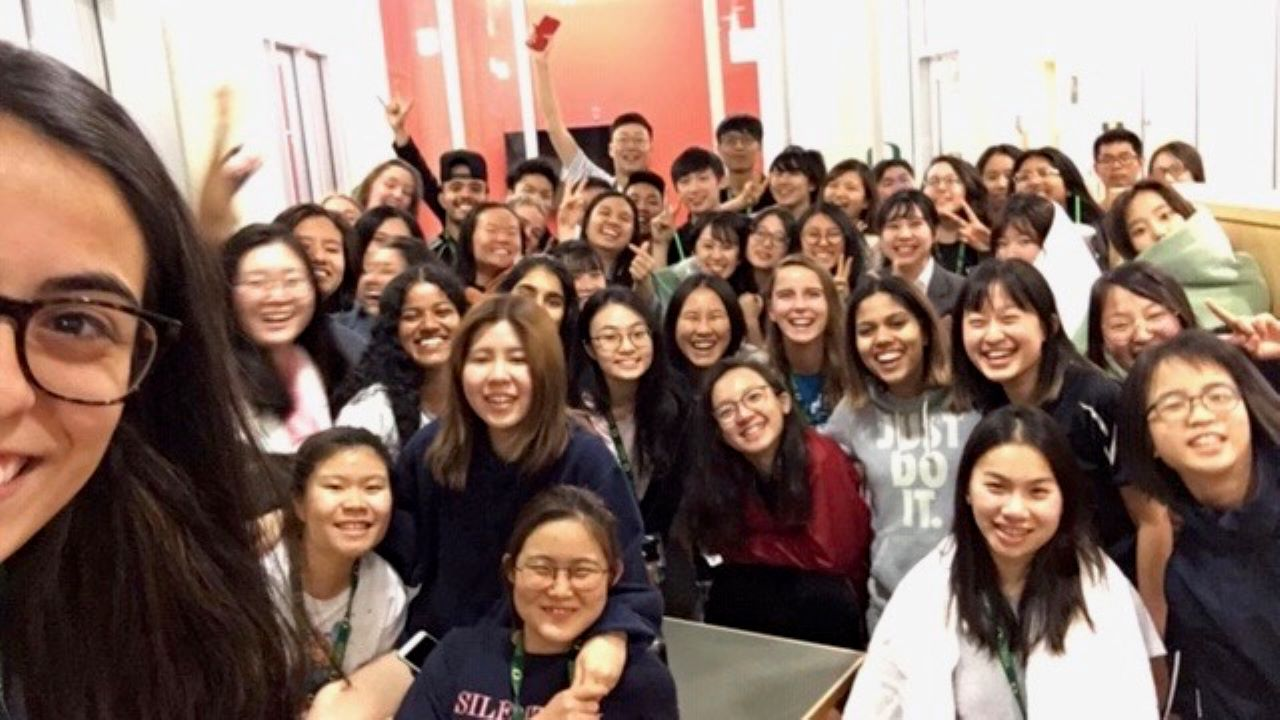 A selfie during a late-night fire alarm that brought everyone together—and captured the collective positivity of APRU ULP students.