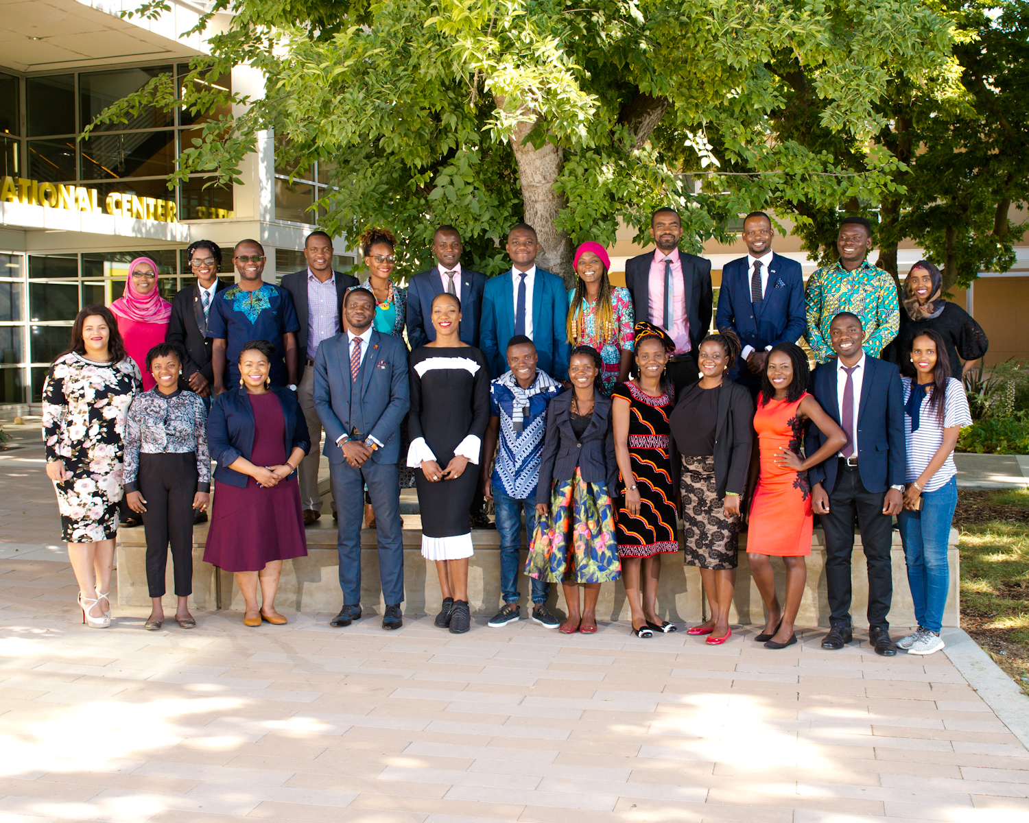 2018 Mandela Fellow Group Photo at International Center