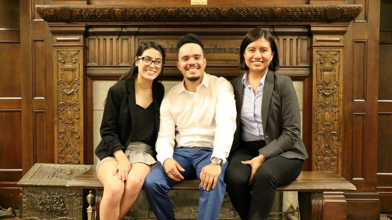 UC Davis students at the 2019 APRU Undergraduate Leaders' Program, from left to right: Christal Juarez (Anthropology, College of Letters and Science), Ivan Rocha (Psychology, College of Letters and Science), Maria Arteaga (Managerial Economics, College of Agricultural and Environmental Science).