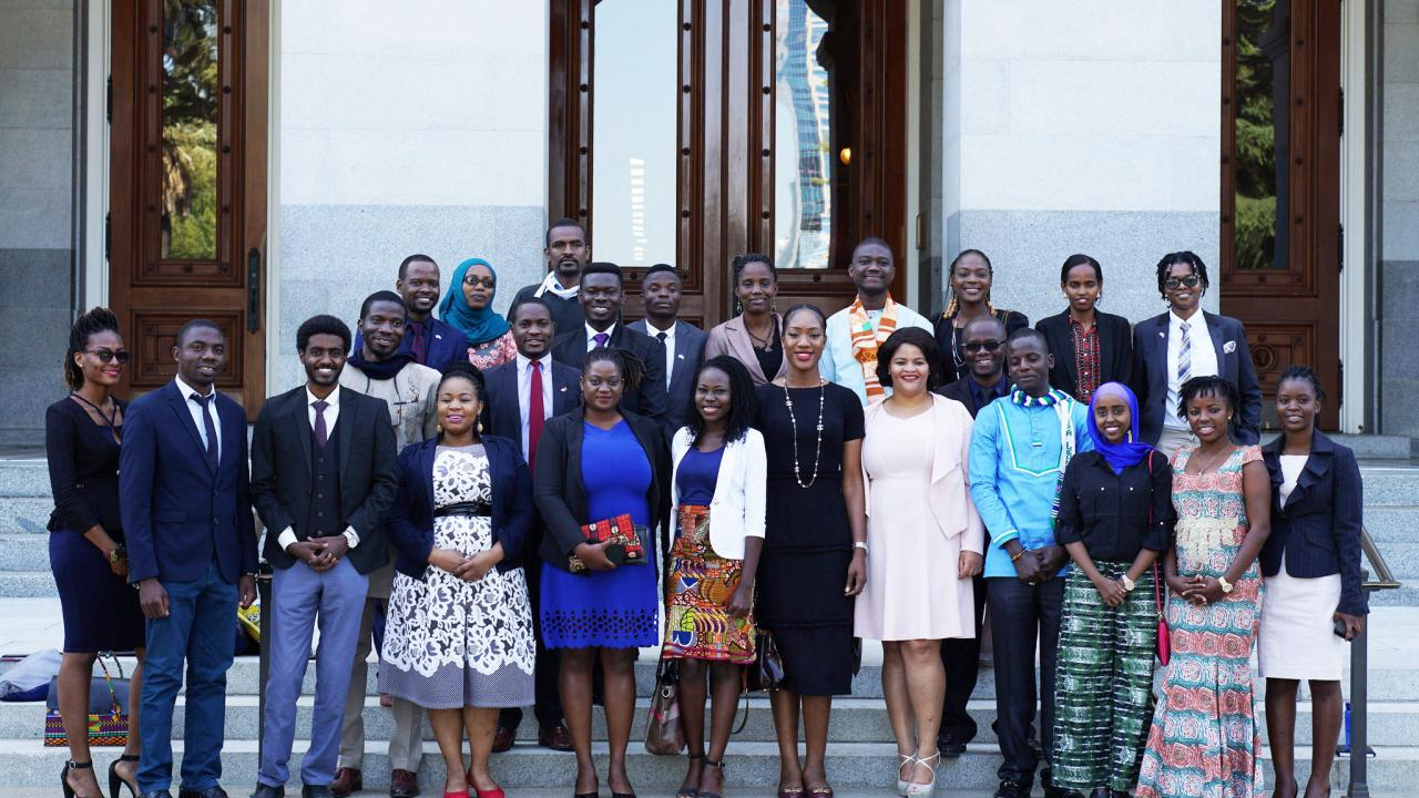 Mandela fellows at state capitol