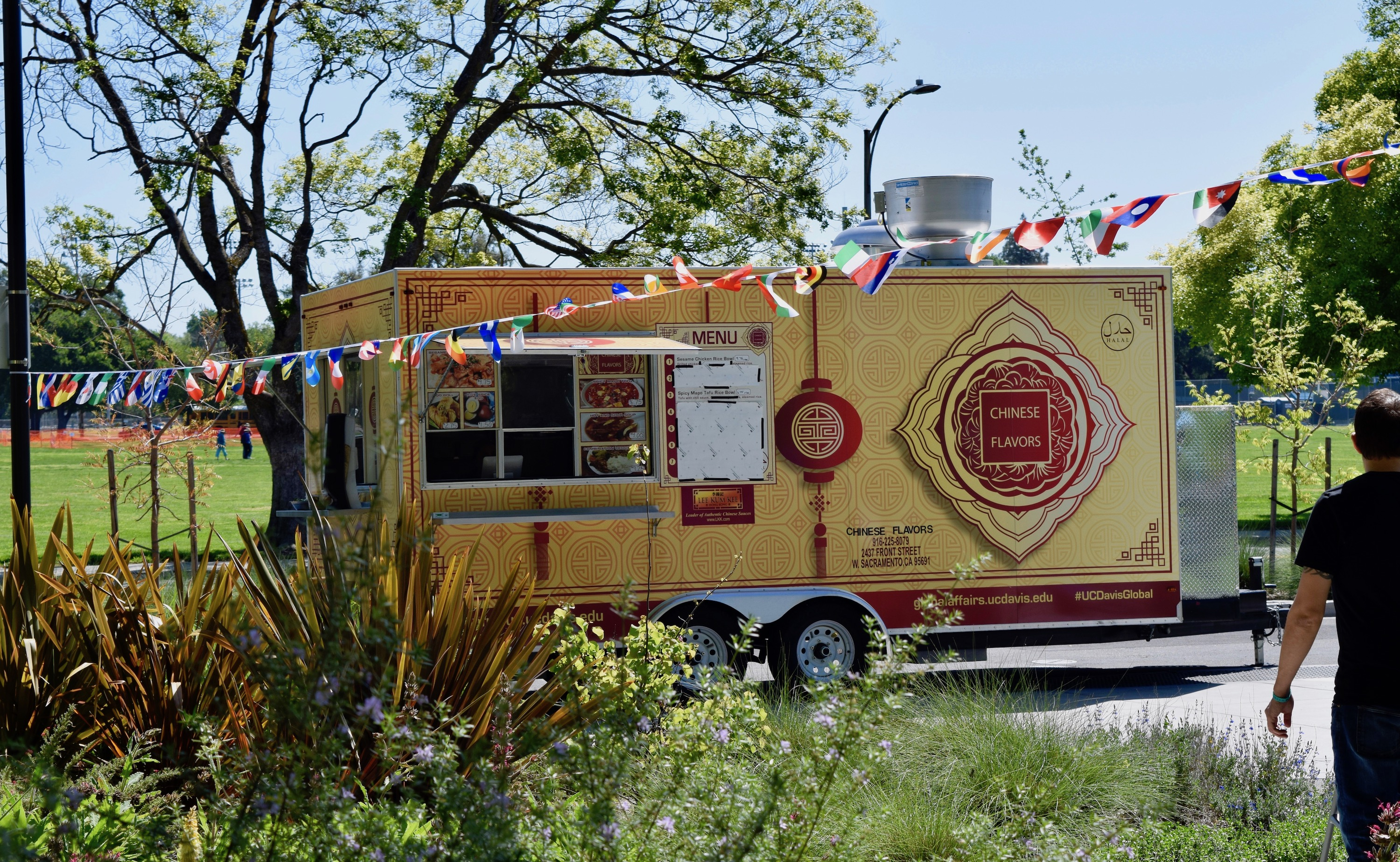 Chinese Flavors food truck outside International Center