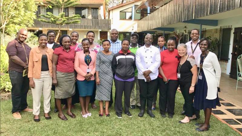 Faculty with partners in Kenya