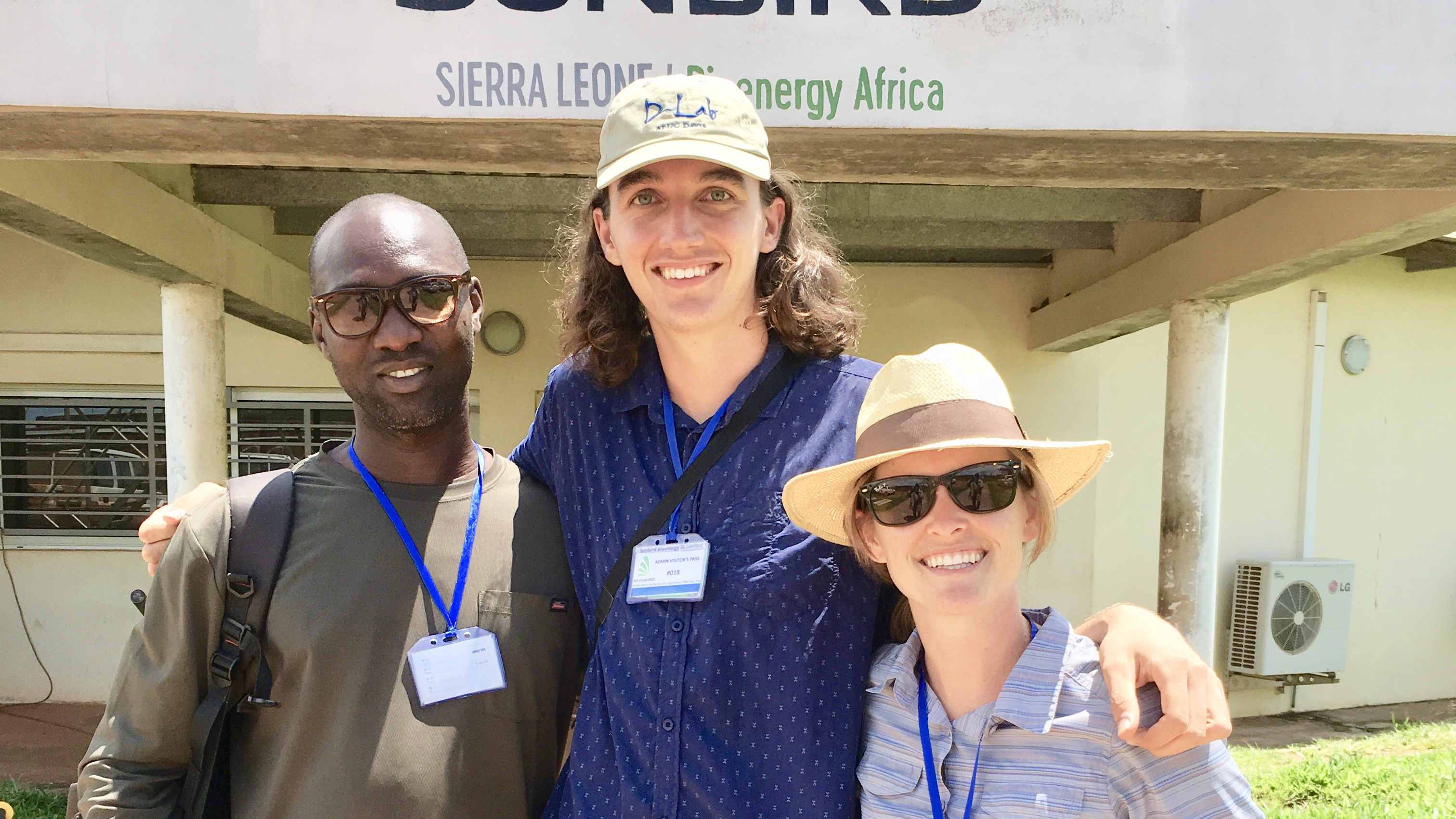 Martin Kailie, Peter Nasielski, and Dana Armstrong in Sierra Leone.