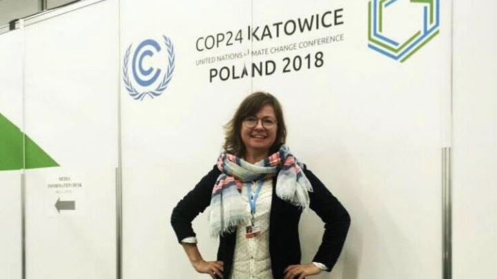 Angelina at COP24 conference
