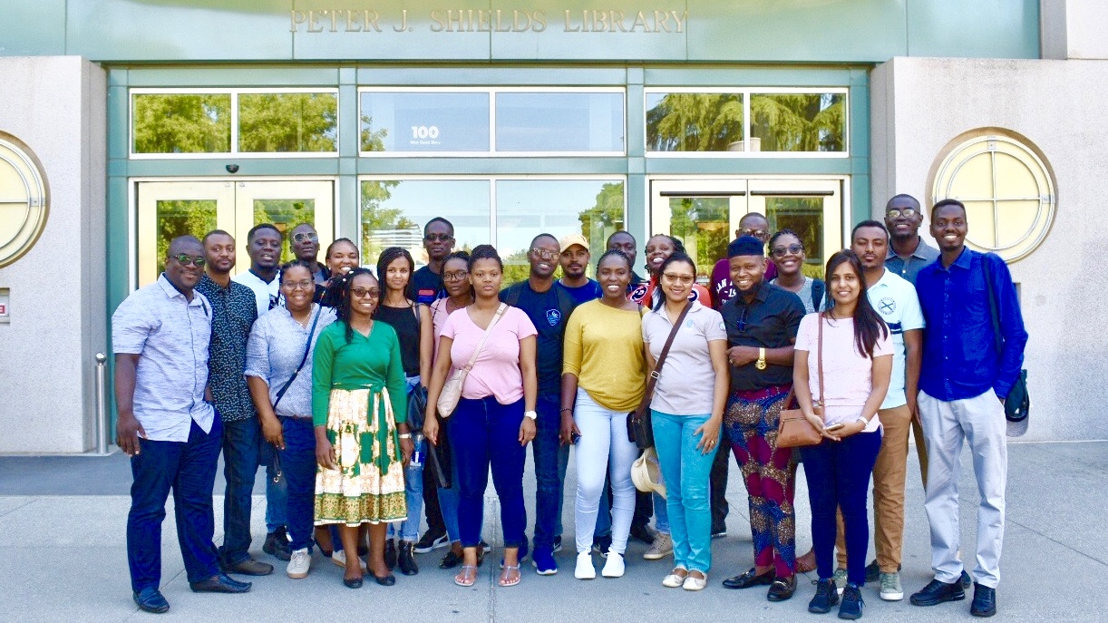 2019 UC Davis Mandela Fellows in front of library