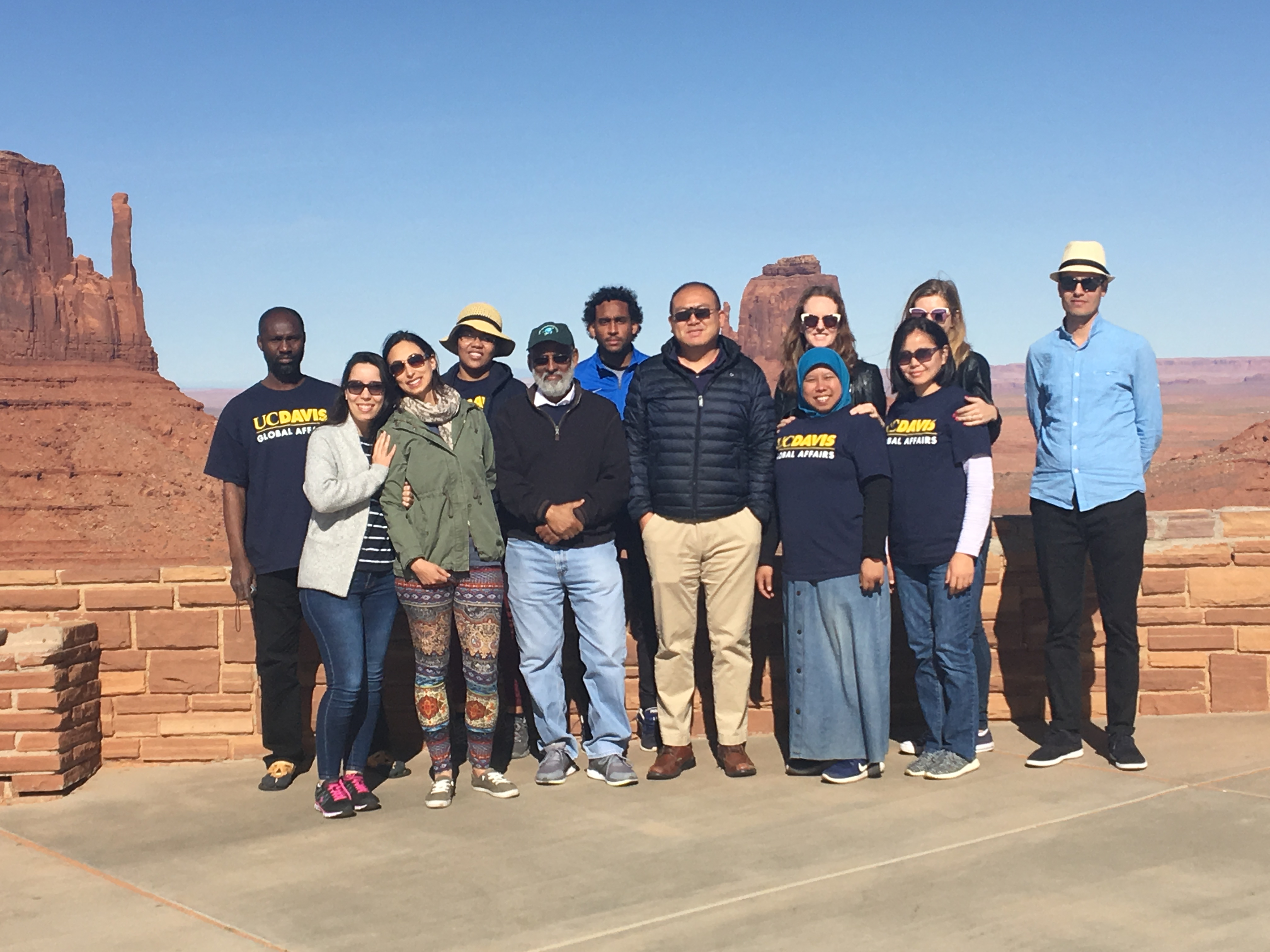 UC Davis Humphrey Fellows at Grand Canyon
