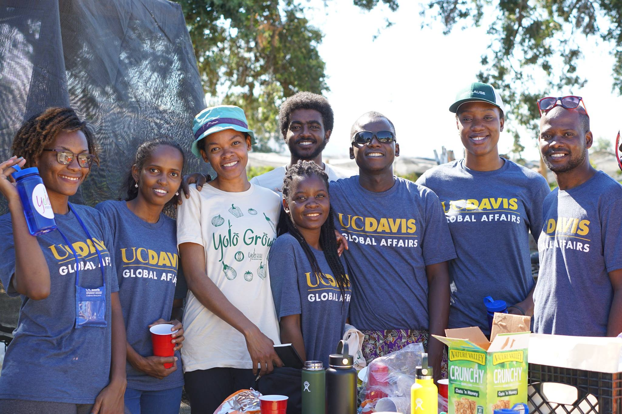 Mandela Fellows volunteering at farm