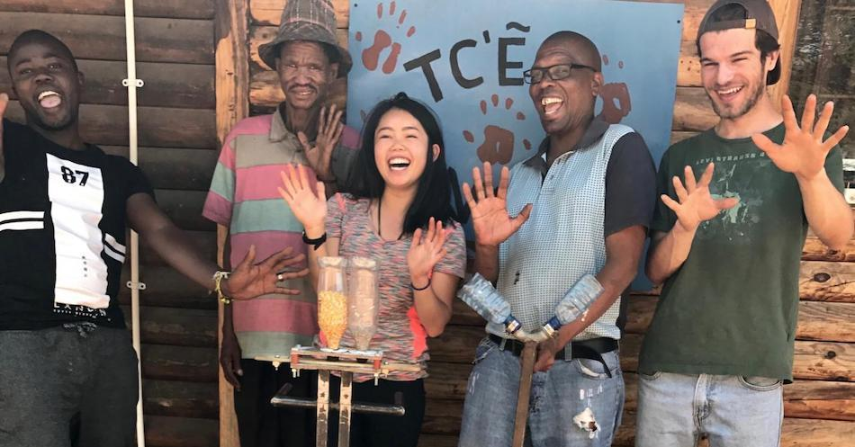 Stephanie Lew, environmental science and management alumna and former Blum Center Fellow, working on an agricultural design project in Botswana.