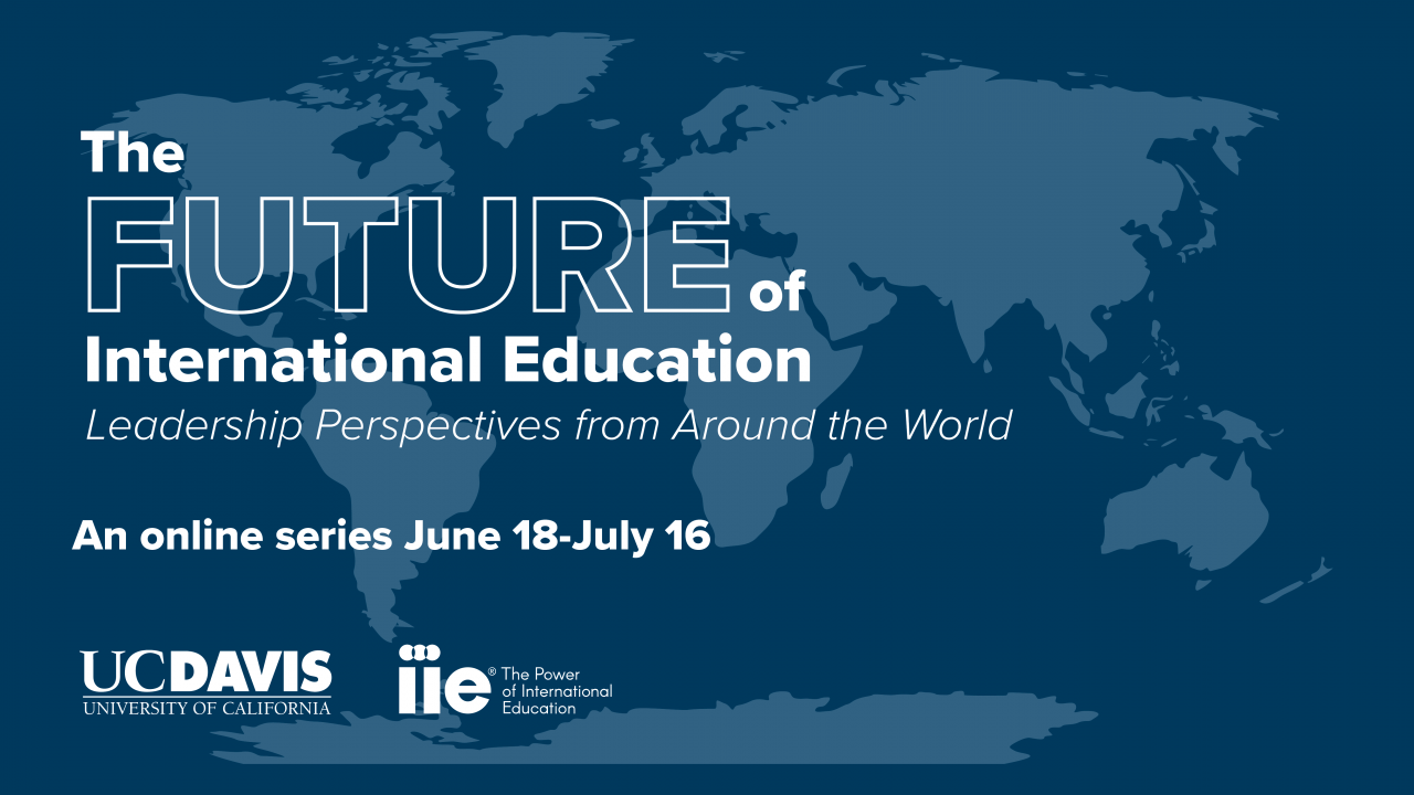 Future of International Education graphic with continents