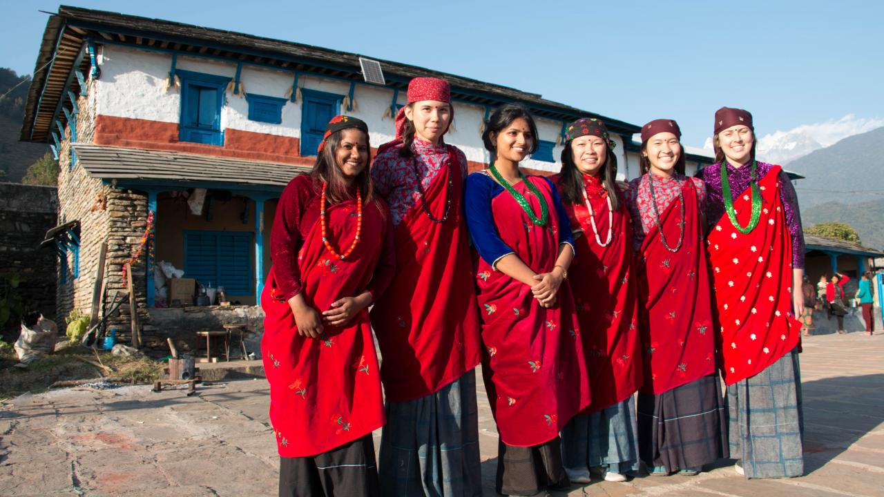 UC Davis students in Nepal