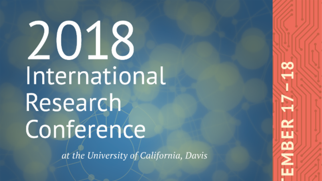 2018 International Research Conference Announcement