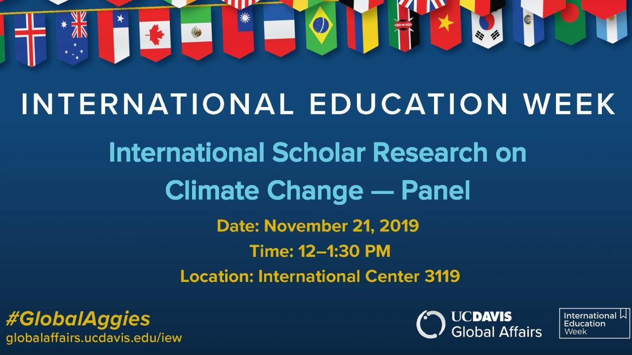 International Scholar Research on Climate Change IEW 2019
