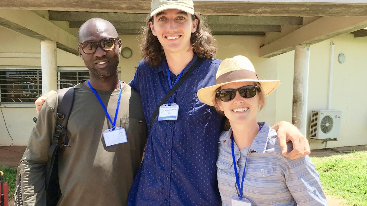 Blum fellows and Humphrey fellow in Sierra Leone