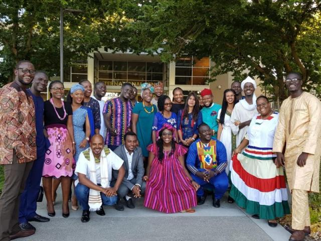 Mandela Fellows at event