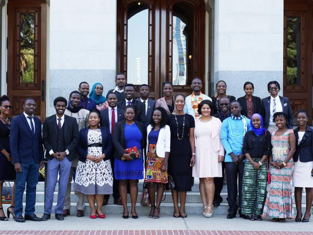 mandela fellows in front of the state capitol
