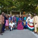 group of african professionals in traditional attire