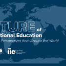 Future of International Education Graphic with IIE and UC Davis logos