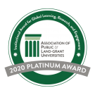 APLU Award Seal with Platinum Award text