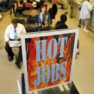 Sign Reading Hot Jobs at employment office