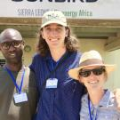 Martin Kailie, Peter Nasielski, and Dana Armstrong working on a project together in Sierra Leone.