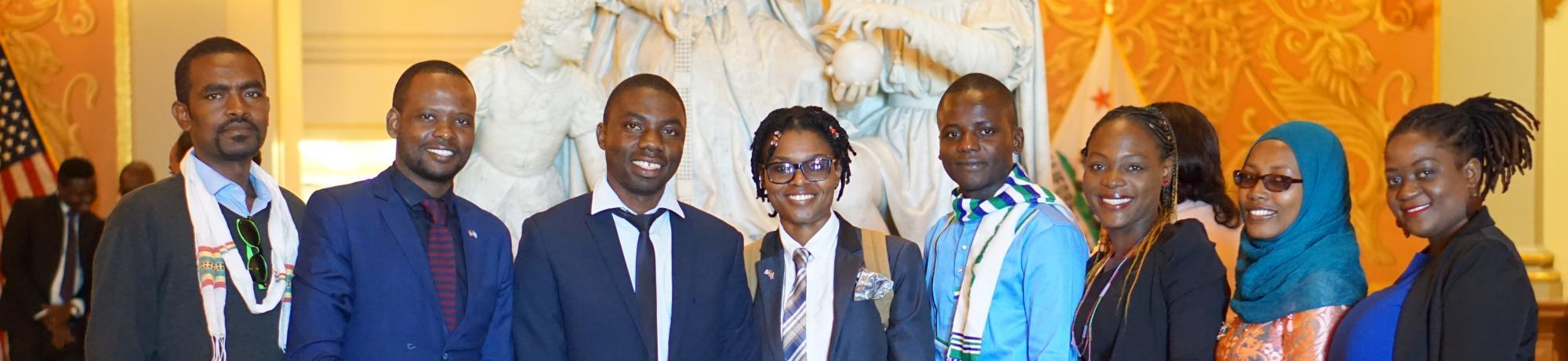 2018 mandela fellows at the state capitol